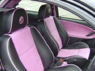 MG ZR re-trim in black/pink leather